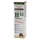B-12 Sublingual Liquid Super Strength Natural Berry Flavor 5000 mcg 2 oz (59 ml), Nature's Bounty