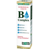 B-Complex with B12 Sublingual Liquid 2 oz (59 ml) (59 cc), Nature's Bounty