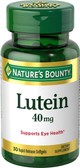 Lutein 40 mg 30 sGels, Nature's Bounty
