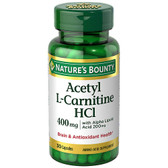 Acetyl L-Carnitine HCI 400 mg 30 Caps, Nature's Bounty