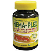 Hema-Plex Nutritional Supplement for Total Blood Health 60 Veggie Caps, Nature's Plus