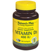 Vitamin D3 400 IU 180 sGels, Nature's Plus