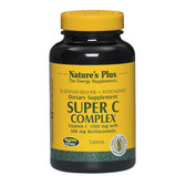 Super C Complex Vitamin C 1000 mg with 500 mg Bioflavonoids 180 Tabs, Nature's Plus