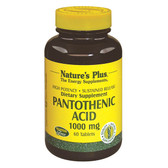 Pantothenic Acid 1000 mg 60 Tabs, Nature's Plus