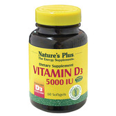 Vitamin D3 5000 IU 60 sGels, Nature's Plus