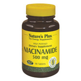 Niacinamide 500 mg 90 Tabs, Nature's Plus
