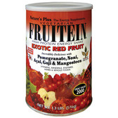 Fruitein High Protein Energy Shake Exotic Red Fruit 1.3 lb. (576 g), Nature's Plus