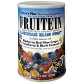 Fruitein High Protein Energy Shake Luscious Blue Fruit 1.3 lb (576 g), Nature's Plus