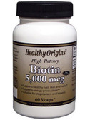 Biotin 5000 mcg 60 VgCaps Healthy Origins
