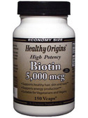 Biotin 5000 mcg 150 VgCaps Healthy Origins
