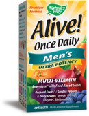 Alive! Once Daily Men's Multi-Vitamin 60 Tabs, Nature's Way