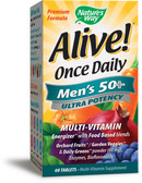 Alive! Once Daily Men's 50+ Multi-Vitamin 60 Tabs, Nature's Way