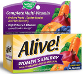 Alive! Women's Energy Multivitamin-Multimineral 50 Tabs, Nature's Way