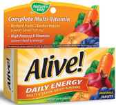 Alive! Daily Energy 60 Tabs, Nature's Way