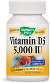 Vitamin D3 5000 IU 240 sGels, Nature's Way