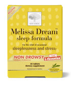 Melissa Dream Sleep Formula 40 Tabs, New Nordic US