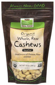 Certified Organic Real Food Whole Raw Cashews Unsalted 10 oz (284 g), Now Foods