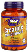 Sports Creatine Monohydrate 750 mg 120 Caps, Now Foods