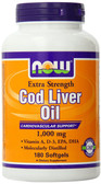Cod Liver Oil 1 000 mg 180sGels, Now Foods