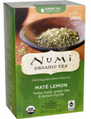 Organic Green Tea Higher Caffeine Mate Lemon 18 Tea Bags 1.46 oz (41.4 g), Numi Tea