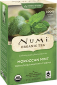 Organic Herbal Teasan Caffeine Free Moroccan Mint 18 Tea Bags 1.40 oz (39.6 g), Numi Tea