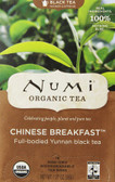 Organic Chinese Breakfast Black Tea 18 Tea Bags 1.27 oz (36 g), Numi Tea