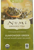 Organic Green Tea Medium Caffeine Gunpowder Green 18 Tea Bags 1.27 oz (36 g), Numi Tea