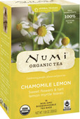Organic Tea Chamomile Lemon Caffeine Free 18 Tea Bags 1.08 oz (30.6 g), Numi Tea