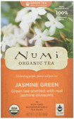 Organic Green Tea Medium Caffeine Jasmine Green 18 Tea Bags 1.27 oz (36 g), Numi Tea