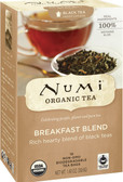 Organic Black Tea Breakfast Blend 18 Tea Bags 1.40 oz Each, Numi Tea