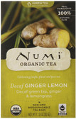Organic Decaffeinated Tea Ginger Lemon 16 Tea Bags 1.13 oz (32 g), Numi Tea
