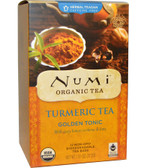 Organic Turmeric Tea Golden Tonic Caffeine Free 12 Tea Bags 1.31 oz (37.2 g) Each, Numi Tea
