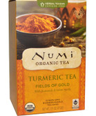 Organic Turmeric Tea Fields of Gold 12 Tea Bags 1.31 oz (37.2 g), Numi Tea