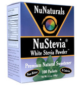 NuStevia White Stevia Powder 100 Packets 3.5 oz (100 g), NuNaturals