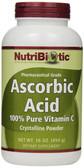 Ascorbic Acid Crystalline Powder 16 oz (454 g), NutriBiotic