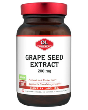 Grape Seed Extract 200 mg 100 Veggie Caps, Olympian Labs