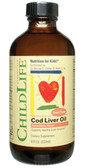 Childlife Vitamins Cod Liver Oil Strawberry 8 fl oz