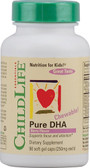 Pure DHA 250 mg 90 Softgels Childlife, Focus & Attention