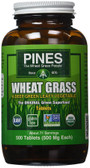 Organic Wheat Grass 500 mg 500 Tabs, Pines International