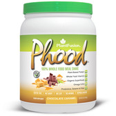 Phood 100% Plant-Based Whole Food Meal Shake Chocolate Caramel 15.9 oz (450 g), PlantFusion
