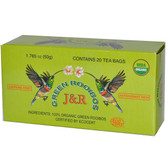 Organic Green Rooibos Caffeine Free 20 Tea Bags 1.765 oz (50 g), Port Trading Co