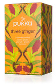 Three Ginger Tea Caffeine Free 20 Herbal Tea Sachets 1.27 oz (36 g), Pukka Herbs