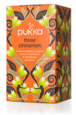 Three Cinnamon Tea Caffeine Free 20 Herbal Tea Sachets 1.41 oz (40 g), Pukka Herbs