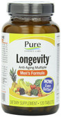 Longevity Anti-Aging Multiple Men's Formula 120 Tabs, Pure Essence