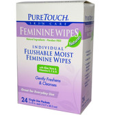 Feminine Wipes 24Single Use Packets, PureTouch Skin Care
