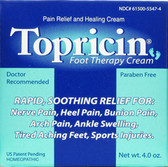 Topricin Foot Therapy Cream 4 oz, Topical Biomedics Healing Cream