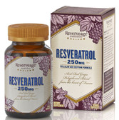 Resveratrol Cellular Age-Defying Formula 250 mg 60 Veggie Caps, ReserveAge Nutrition