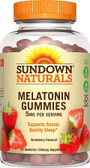 Melatonin Gummies Strawberry 5 mg 60 Gummies Rexall Sundown