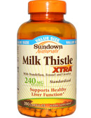 Milk Thistle Xtra 240 mg 250 Caps Rexall Sundown, Liver