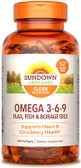 Triple Omega 3-6-9, 200 Softgels, Rexall Sundown Naturals
